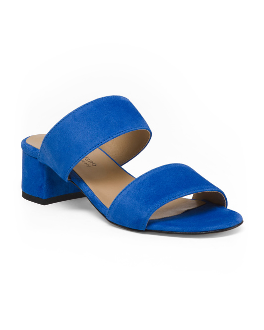 Made In Italy Suede Slide Sandals