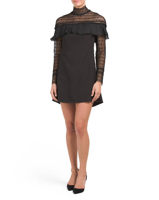 Lace Yoke Mini Dress