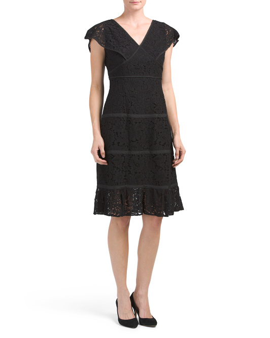 Lace Dress With Binding