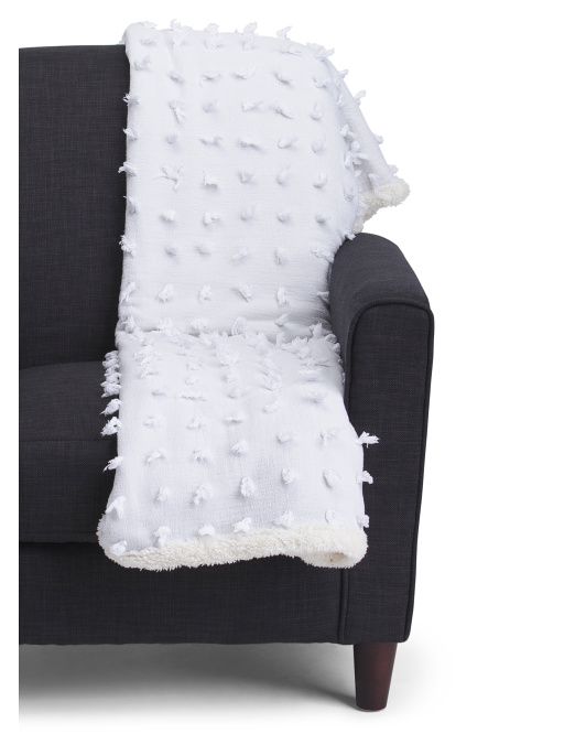 Fringe With Sherpa Throw