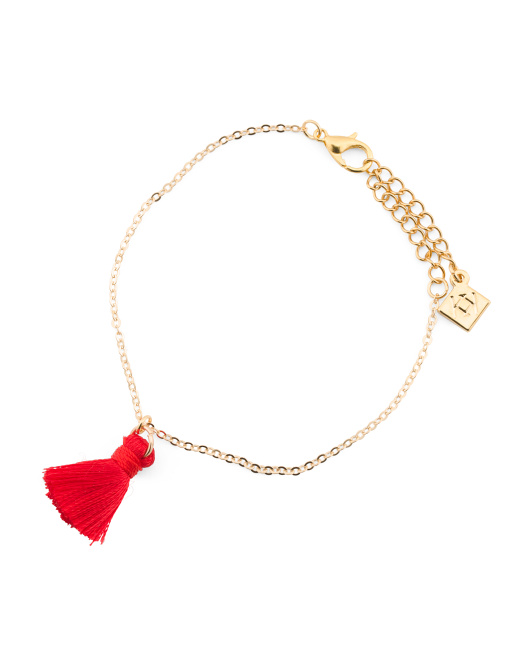 Made In Canada Cotton Tassel Chain Bracelet