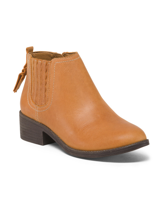 Traction Leather Ankle Booties