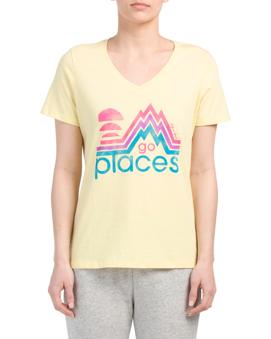 Go Places V-neck Tee
