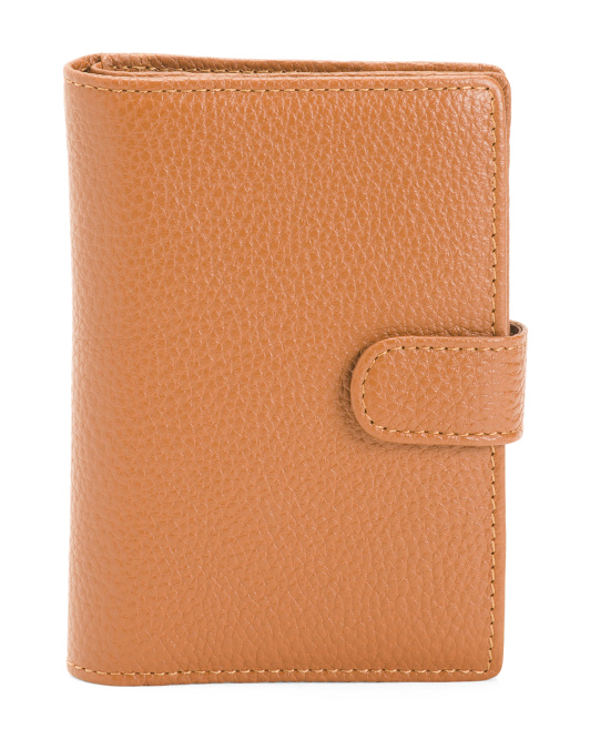 Made In Italy Leather Passport Case