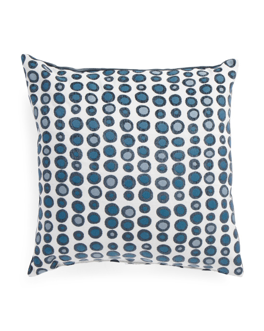 Made In USA 22x22 Dot Print Pillow