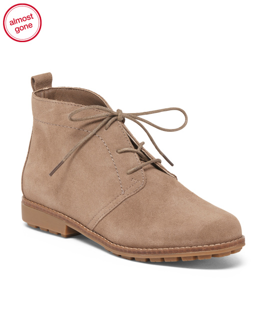 Lace Up Suede Chukka Booties