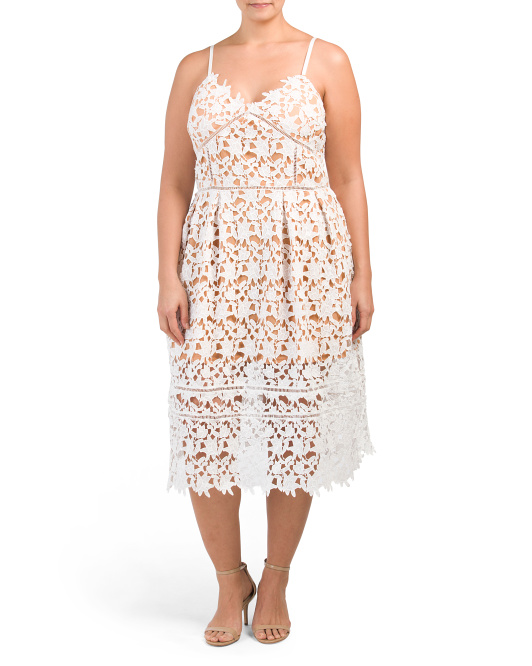 Plus Floral Lace Dress
