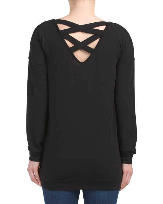 Criss Cross Back Pullover Top