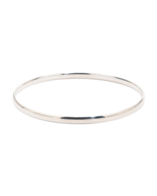 Sterling Silver Slip On Bangle Bracelet
