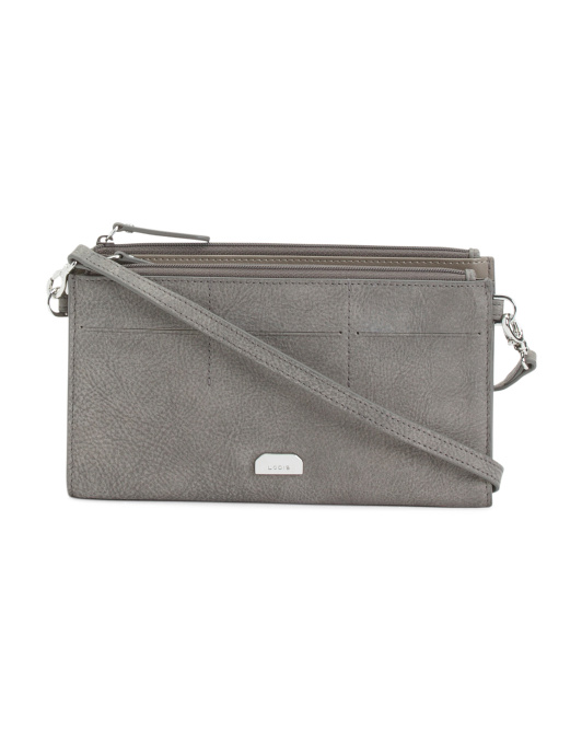 Leather Gijon Fairen Clutch Crossbody