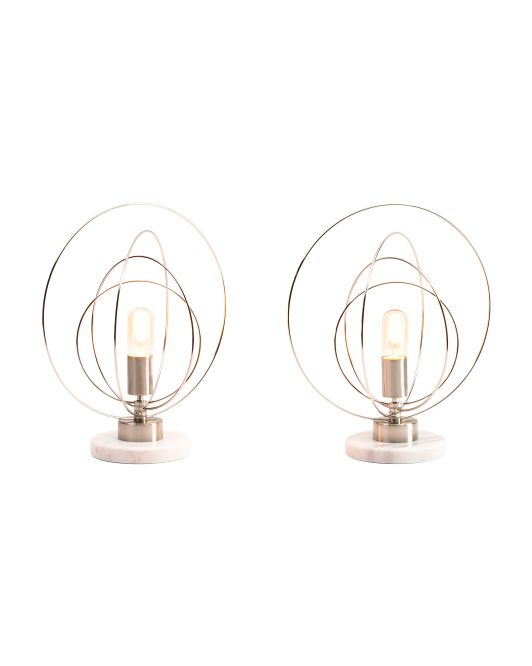 Set Of 2 Iron Uplight Lamps