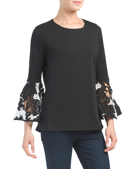 A Fab Lace Sleeve Top
