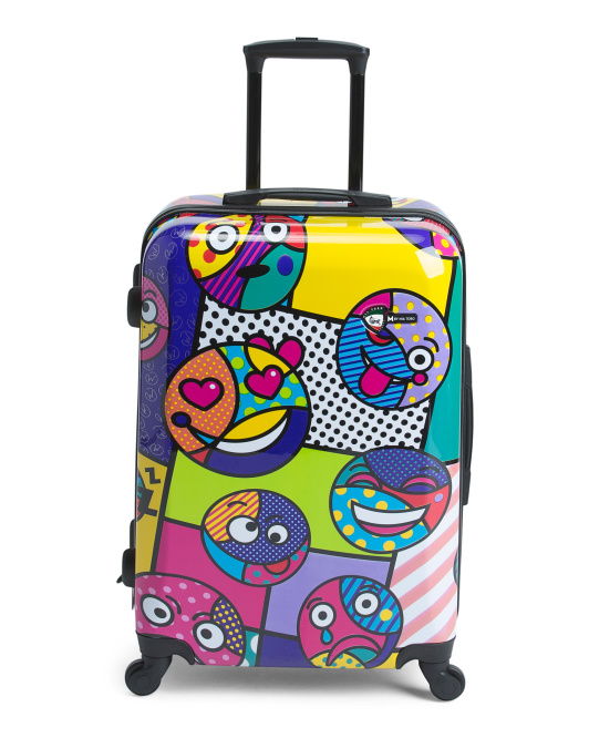 24in Emojis Spinner Trolley
