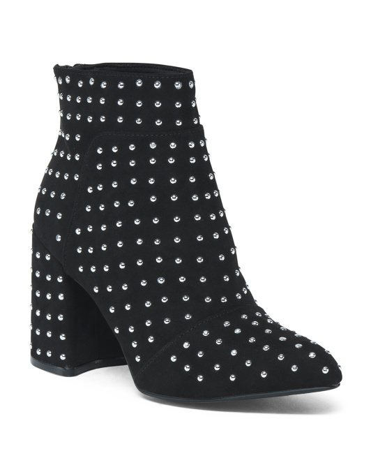 Studded Detail Ankle Booties