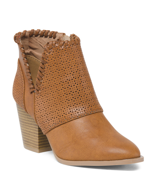 Whipstitch Edge Booties