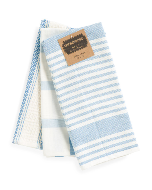 Made In India Set Of 3 Kitchen Towels