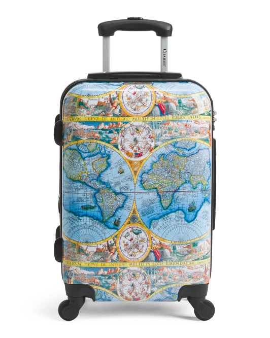 20in World Map Carry-on Spinner