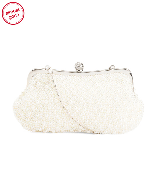 All Over Pearl Clutch