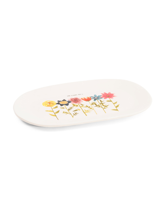 Spring Flowers Tray