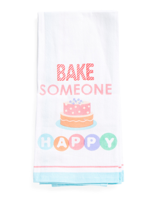 2pk Bake Someone Happy Kitchen Towels