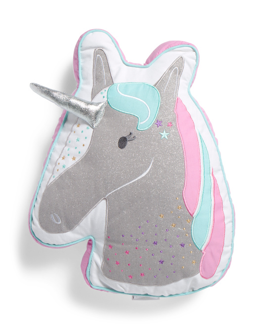 Kids 15x19 Unicorn Head Pillow