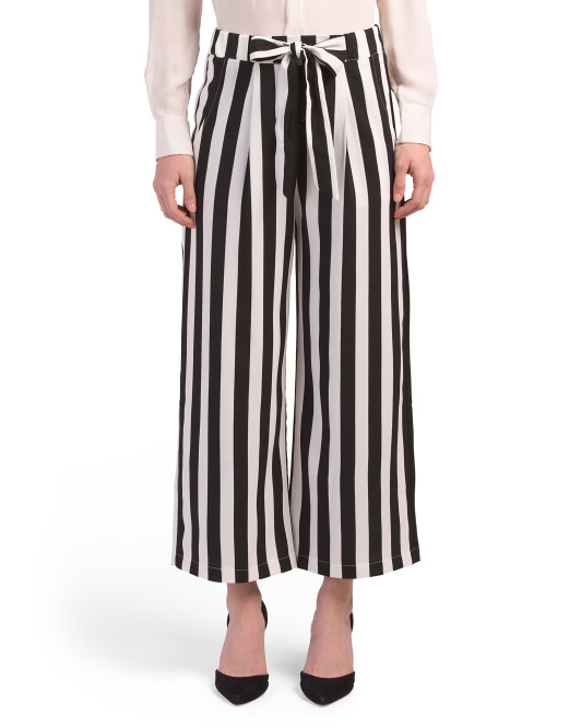 Juniors Vertical Stripe Pants