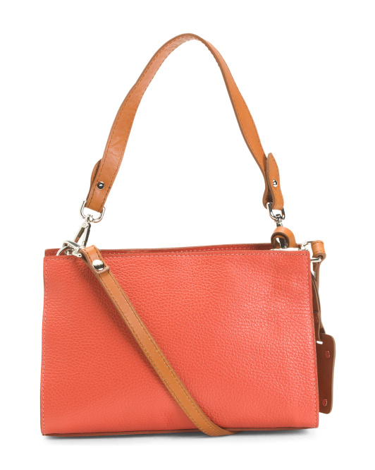 Made In Italy Multi-entry Leather Crossbody