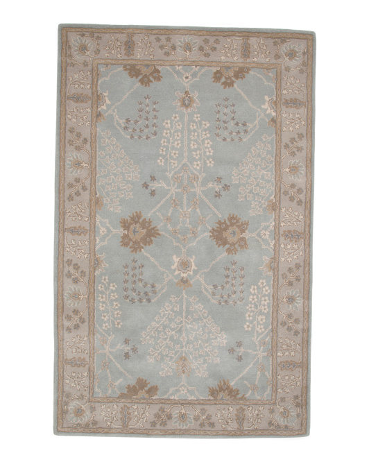 Made In India 5x7 Traditional Wool Area Rug