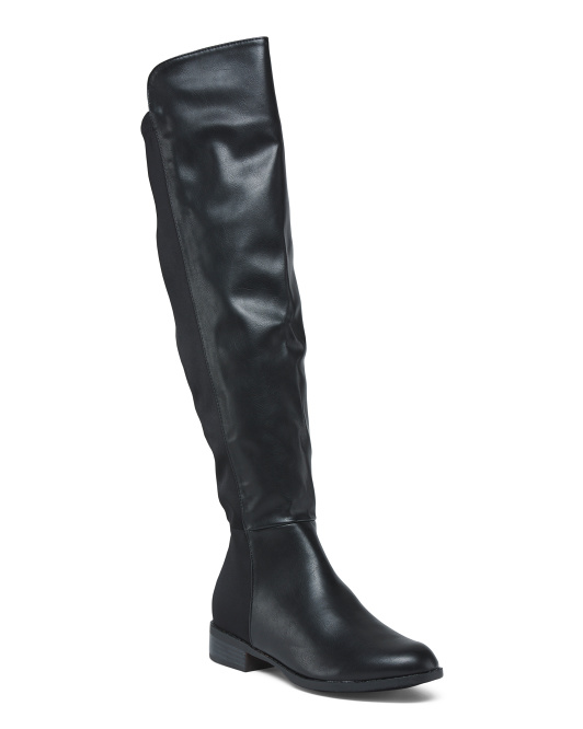 Two Tone High Shaft Boots