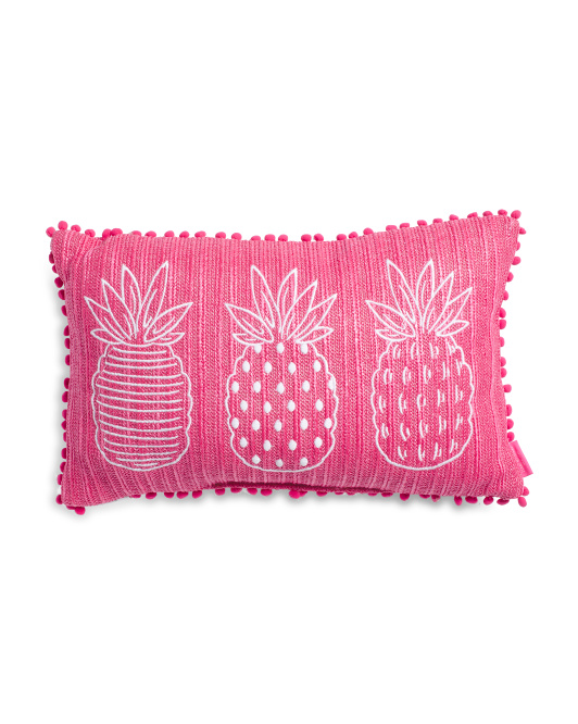 14x24 Indoor Outdoor Pineapples Pillow