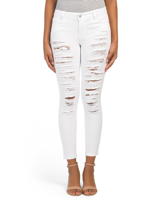 Juniors Destructed Denim Jeans