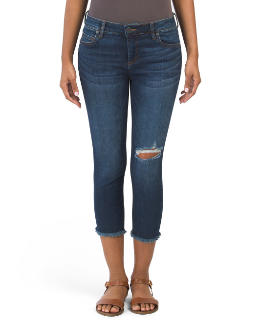 Petite Donna Cropped Skinny Jeans