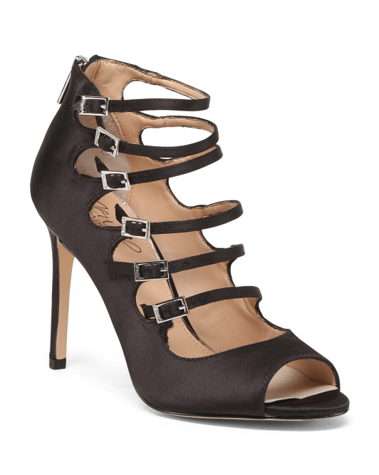 Caged Peep Toe Stiletto Pumps