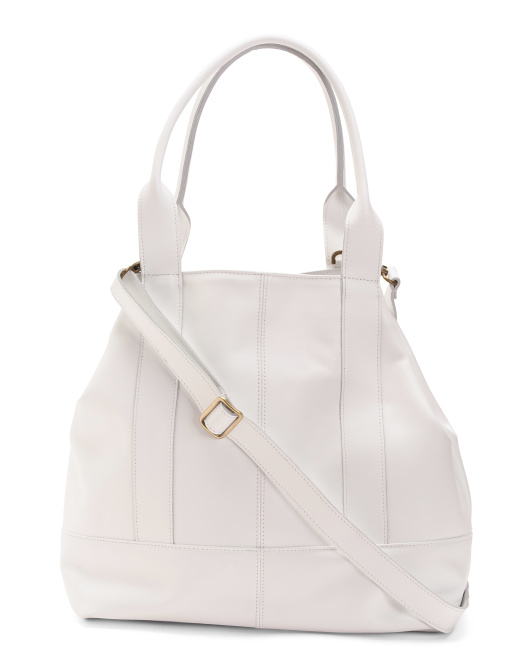 Made In Italy Calf Leather Tote
