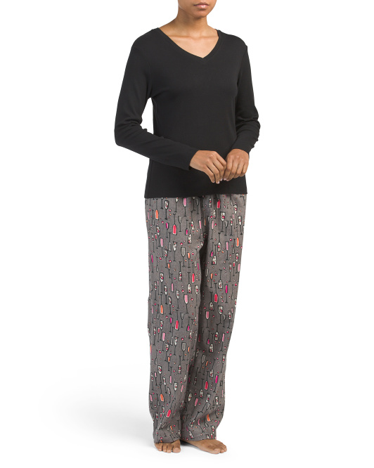 2pc Cocktail Pajama Set