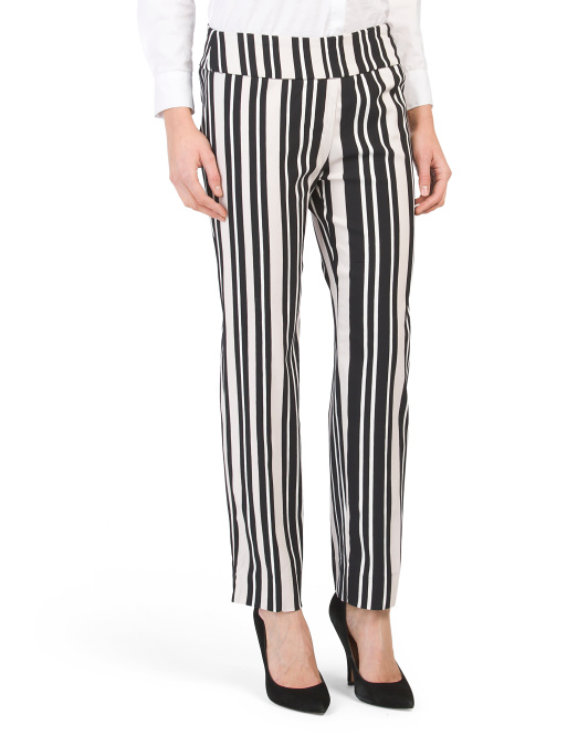 Slim Ankle Pants With Tummy Control