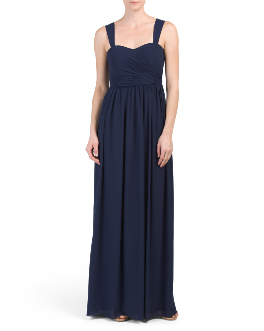 Long Ruched Gown