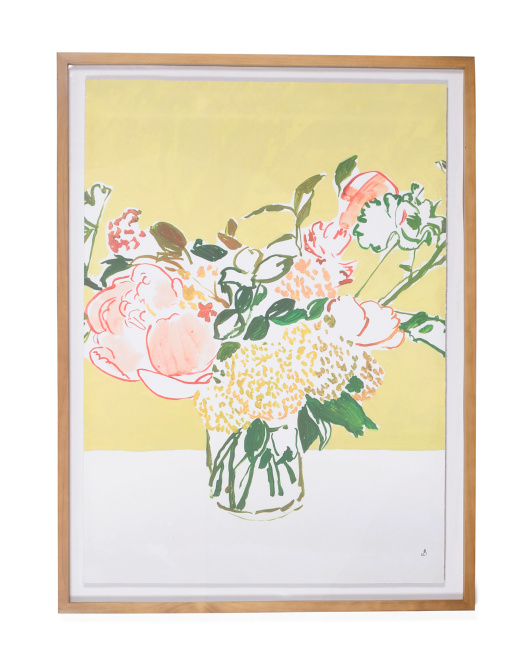 30x40 Contrast Floral Framed Wall Art - Check Tomorrow - T.J.Maxx