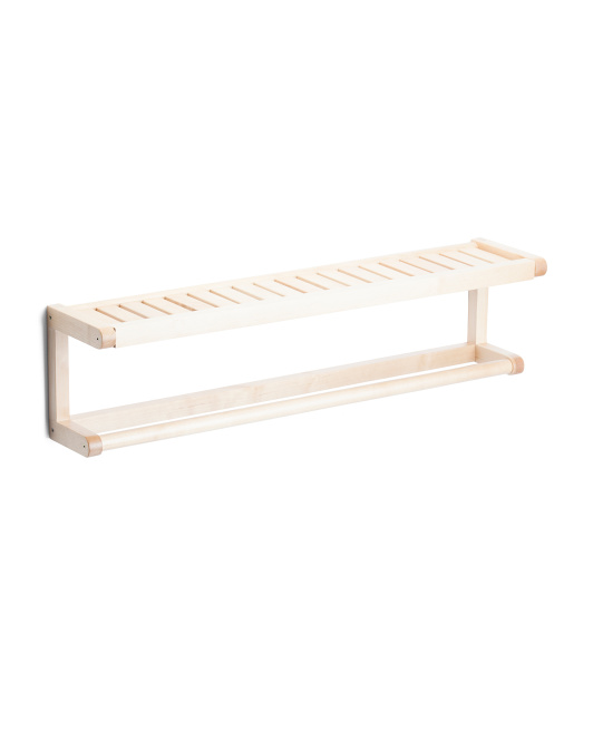 Abingdon Solid Birch Wood Towel Rack