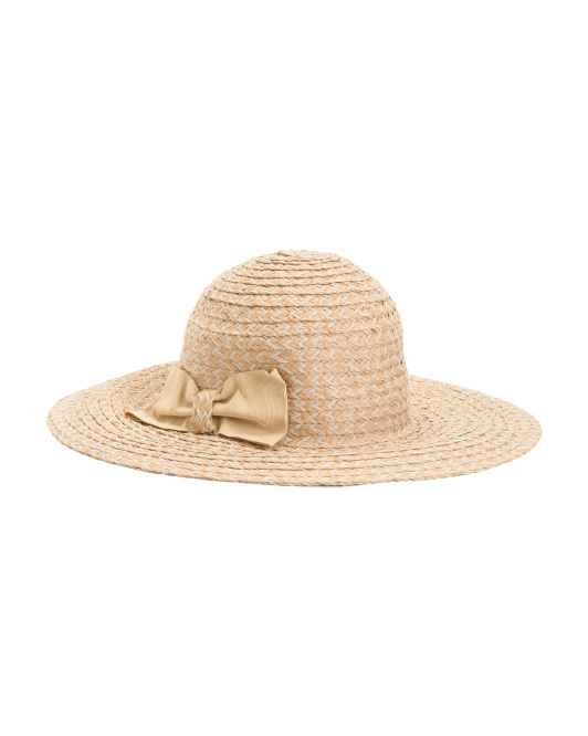 Made In Italy Floppy Hat With Bow