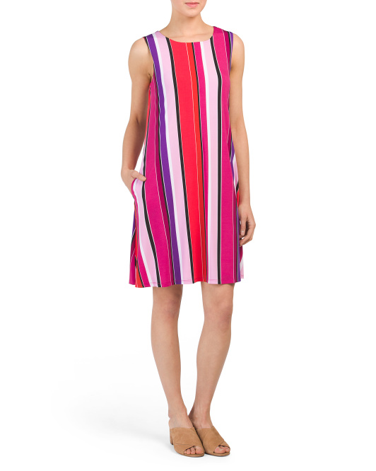 Striped Jersey Trapeze Dress