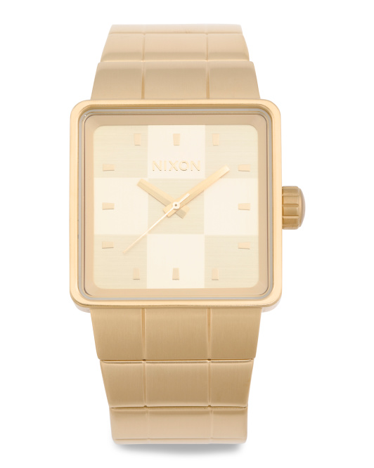 Men's Quatro Square Dial Bracelet Watch