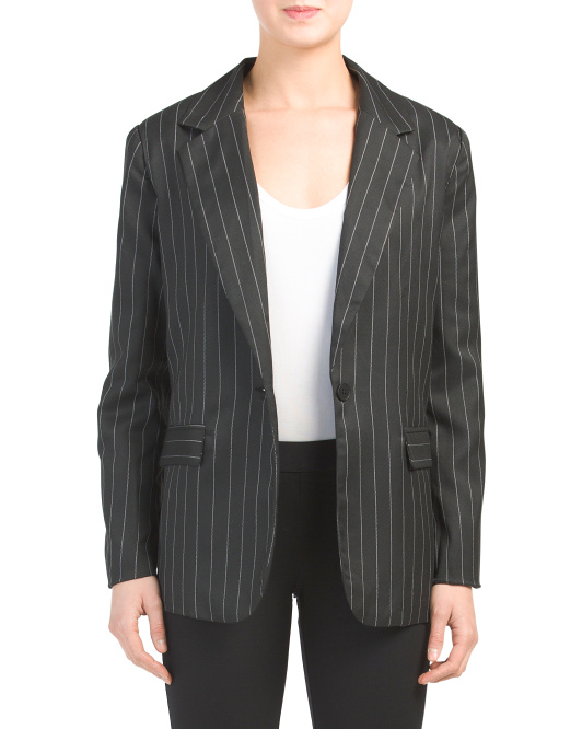 Juniors Striped Blazer
