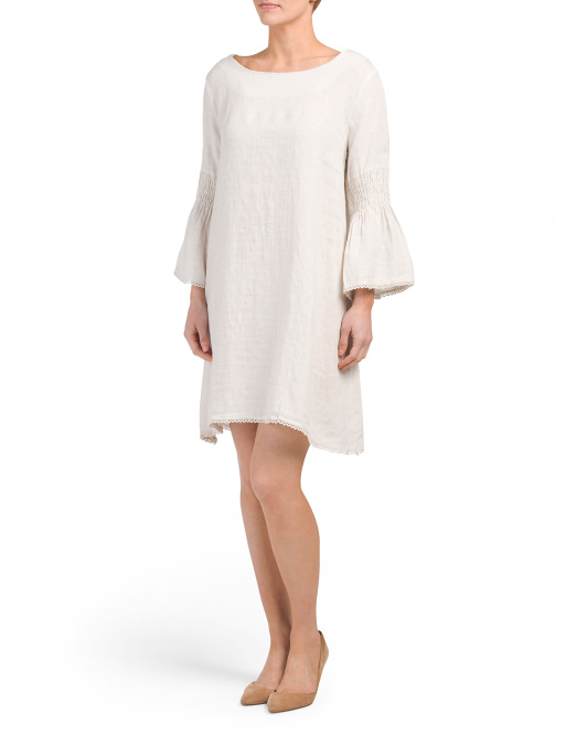 Made In Italy Linen Textured Dress