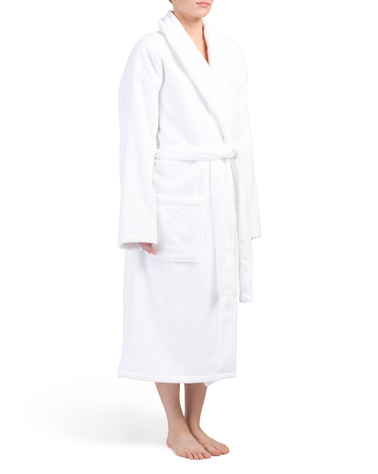 Zero Twist Robe With Shawl Collar