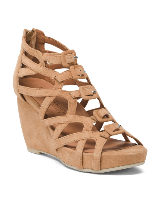 Ultimate Comfort Suede Wedge Sandals