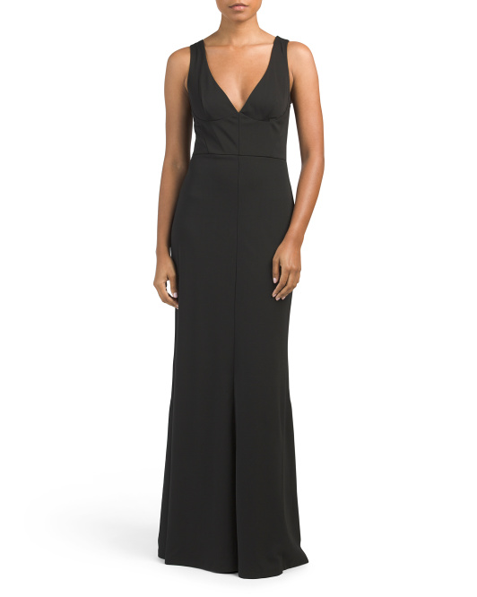 Long V-neck Gown