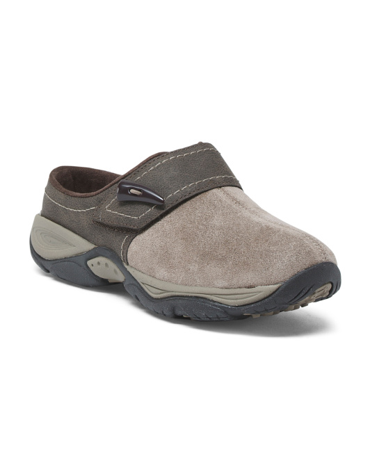 Slip On Suede Clogs