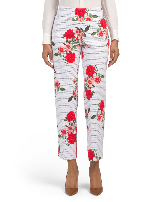 Tummy Control Pull On Slim Ankle Pants