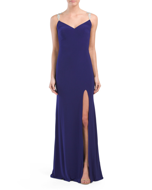 High Slit Jersey Gown